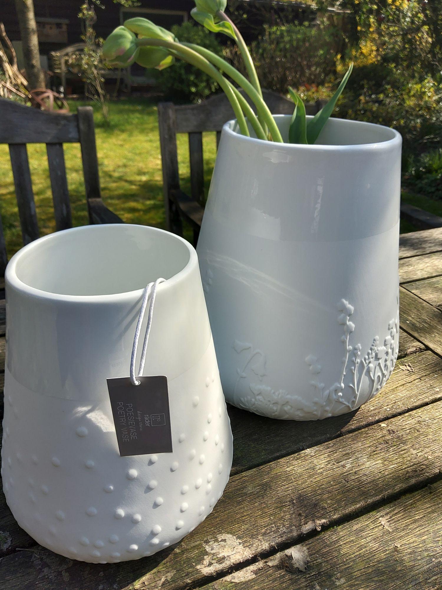 Porzellanvase, weiß, Firma Räder Klein
